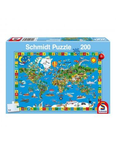 Schmidt Παγκόσμιος Χάρτης 200pcs (56118)