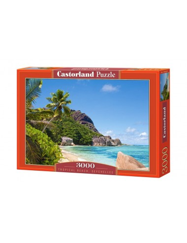 Castorland Tropical Beach-Seychelles 3000 ΚΟΜΜΑΤΙΑ C-300228-2