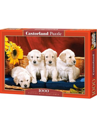 Castorland Puppies With Sunflower 1000 ΚΟΜΜΑΤΙΑ C-101771-2