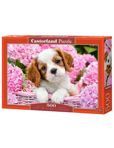 Castorland Pup in Pink Flowers 500 ΚΟΜΜΑΤΙΑ B-52233