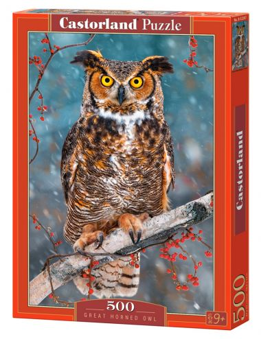Castorland Great Horned Owl 500 ΚΟΜΜΑΤΙΑ B-52387