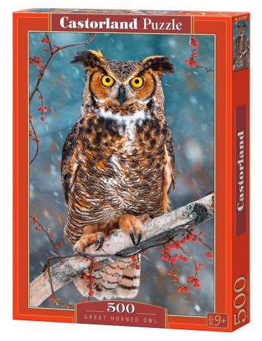 Castorland Great Horned Owl 500 ΚΟΜΜΑΤΙΑ B-52387