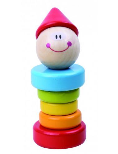 Tooky Toys Ξύλινη Κουδουνίστρα Κλόουν