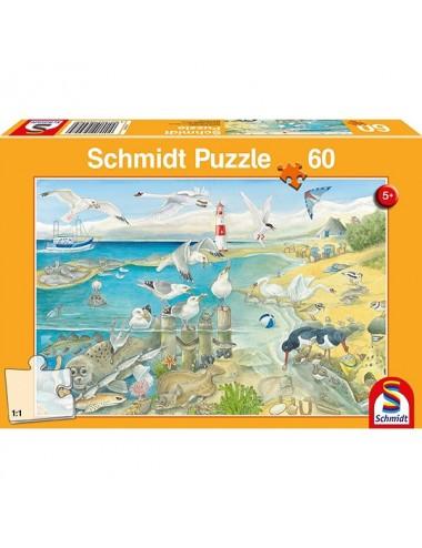 Schmidt Ζωάκια στην ακτή 60pcs (56248)