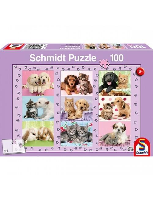 Schmidt  Οι φίλοι μας τα ζωάκια 100pcs (56268)