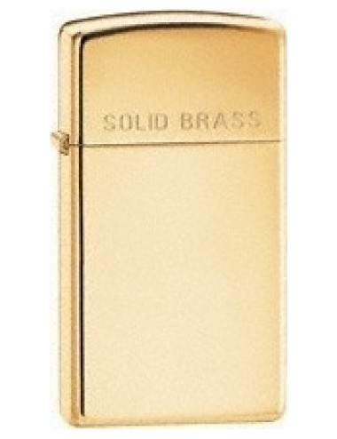 Zippo 1654 Slim Solid Brass