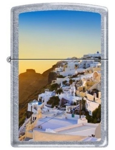 Zippo 207-007310 Regular Street Chrome Santorini View