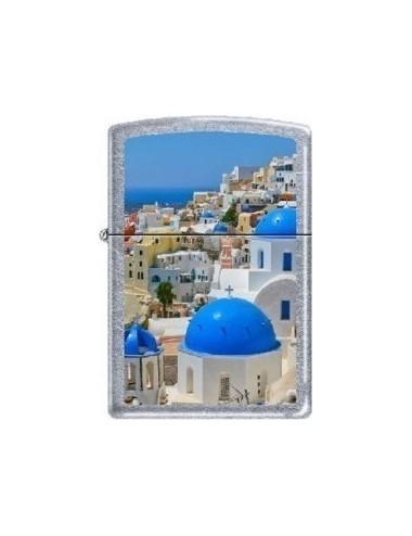 Zippo 214-01627 Regular White Matte Island Of Santorini