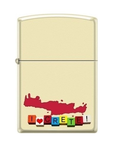Zippo 216-000334 I Love Crete And Map CI018394