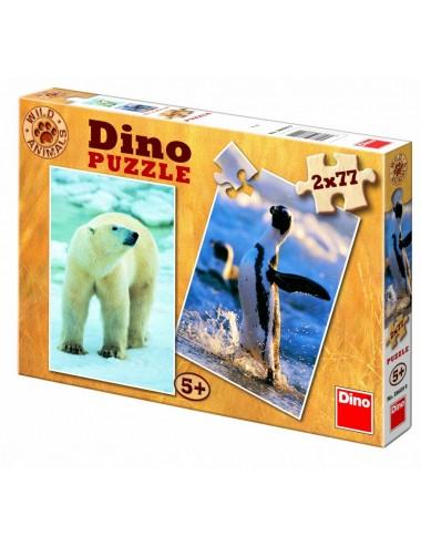 Dino παζλ Αρκούδα- Πιγκουίνοι 77 κομμάτια