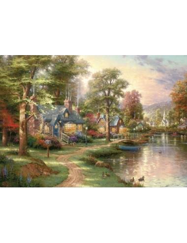 Schmidt Kinkade - Σπίτι στη λίμνη 1500pcs (57452 )