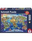 Schmidt Ανακαλύψτε τον κόσμο  1000pcs (58288)