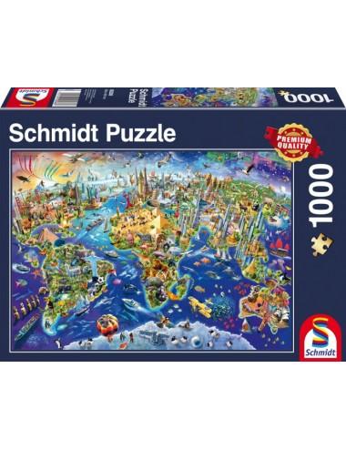 Περισσότερα σχετικά με Schmidt Ανακαλύψτε τον κόσμο  1000pcs (58288)