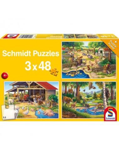 Schmidt 56203 Standard - Αγαπημένα μου ζωάκια 3x48pcs