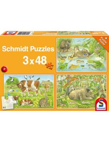 Schmidt 56222 Standard - Ζωάκια 3x48pcs