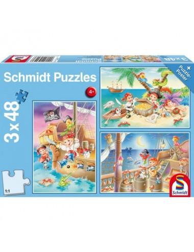Schmidt 56223 Standard - Πειρατές 3x48pcs