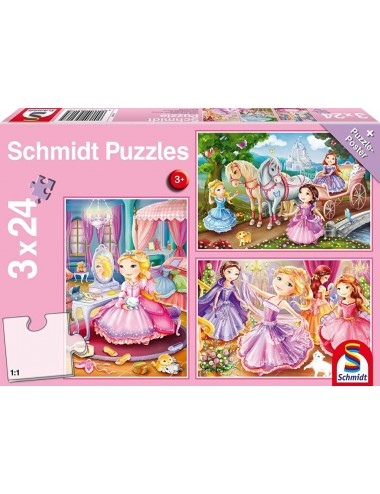 Schmidt 56217 Standard - Πριγκίπισσες 3x24pcs