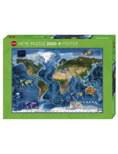 HEYE 29797 World - Δορυφορικός χάρτης