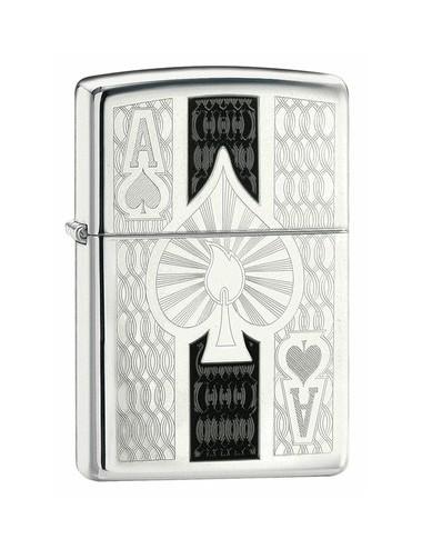Zippo Lighter Silver Ace 24196