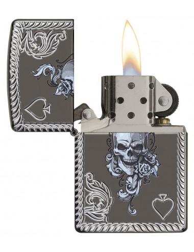 Zippo Spade & Skull Design  29666