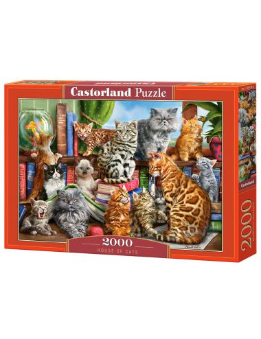 Castorland HOUSE OF CATS 2000 ΚΟΜΜΑΤΙΑ C-200726