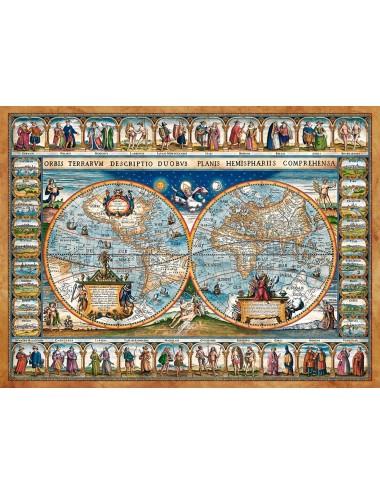 Castorland MAP OF THE WORLD, 1639 2000 ΚΟΜΜΑΤΙΑ C-200733