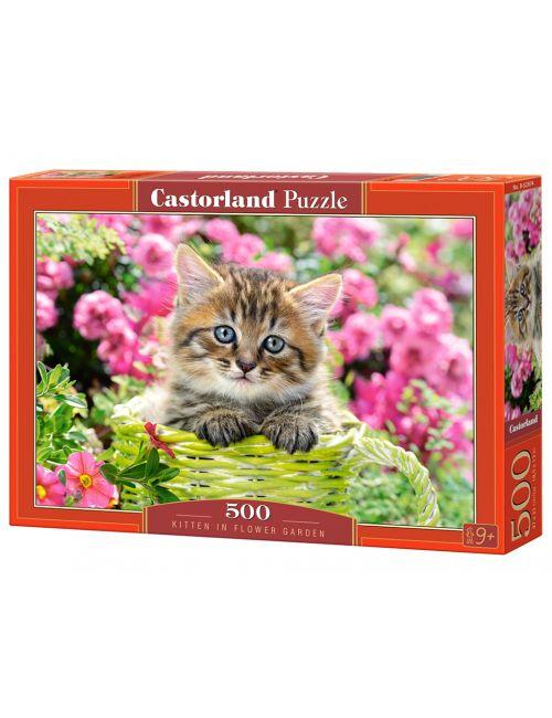 Castorland KITTEN IN FLOWER GARDEN 500 ΚΟΜΜΑΤΙΑ  B-52974