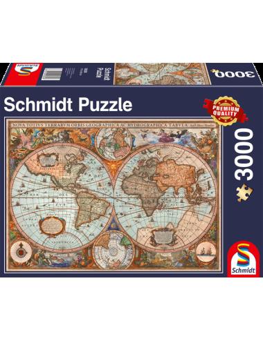 Schmidt  Αντίκα Παγκόσμιος Χάρτης 3000pcs 58328