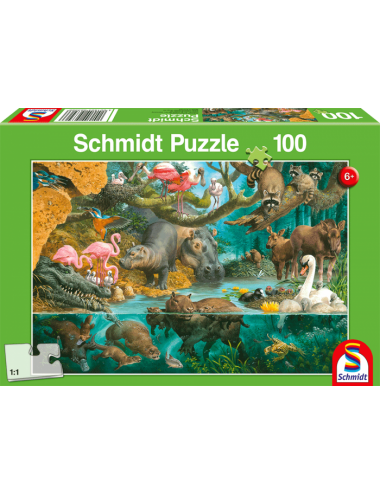 Schmidt Animal Families on the Shore 100pcs 56306