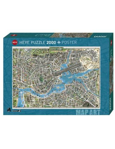 Περισσότερα σχετικά με Heye  Παζλ 2000τεμ. City of Pop(και ποστερ)  29844