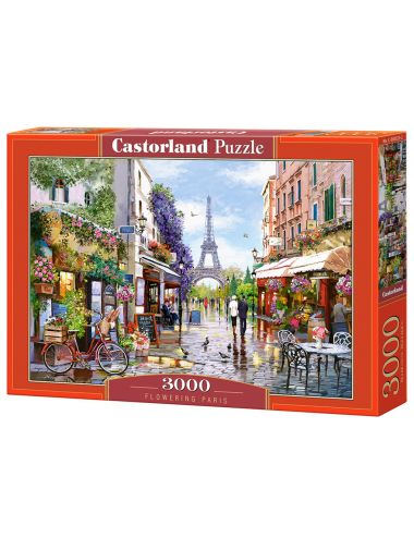 Castorland Flowering Paris  3000 ΚΟΜΜΑΤΙΑ C-300525