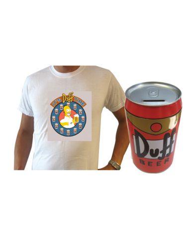 Σετ Simpsons - Κουμπαράς και T-Shirt Duff C03G0150090