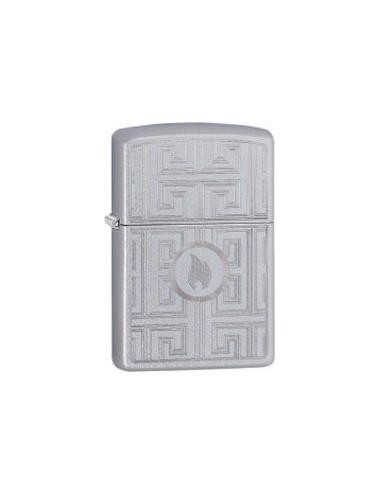 ZIPPO Αναπτήρας Labyrinth Design Satin Chrome 29857