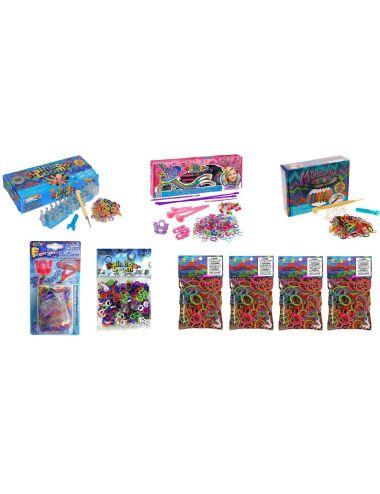 Rainbow Loom Κιτ Rainbow Loom με αργαλειό, αργαλειό για τα μαλλιά, μίνι αργαλειό, αργαλειό Finger Loom, 600 πολύχρωμα C-Clips κα
