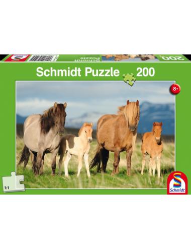 Schmidt Οικογένεια αλόγων 200pcs 56199