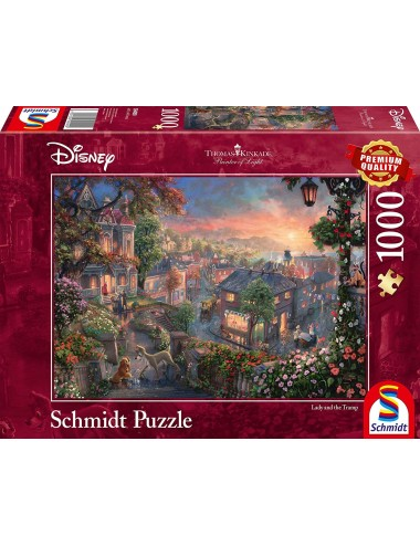 Schmidt  Kinkade Disney - Η Λαίδη και ο Αλήτης 1000pcs (59490)