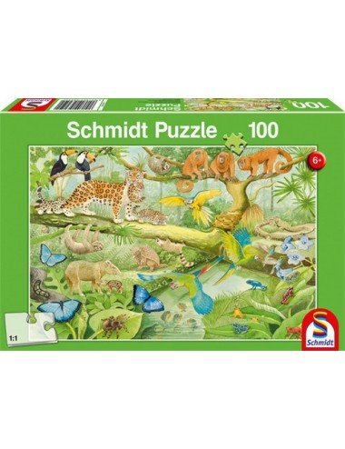 Schmidt  Ζώα της ζούγκλας   100pcs 56250