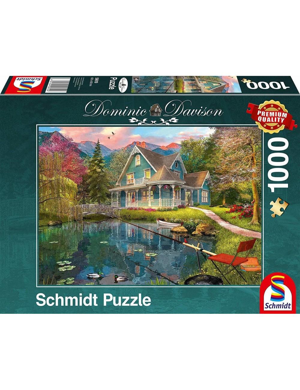 Schmidt Davison - Σπίτι δίπλα σε λίμνη  1000pcs (59619)