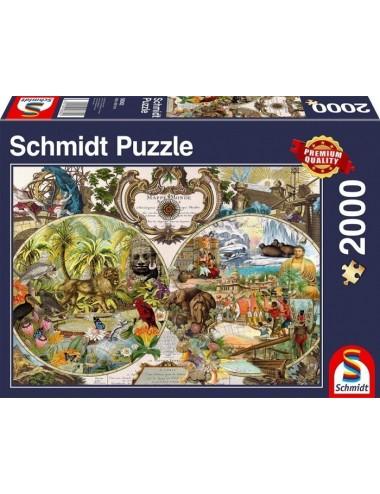 Schmidt Standard - Εξωτικός παγκόσμιος χάρτης 2000pcs (58362)