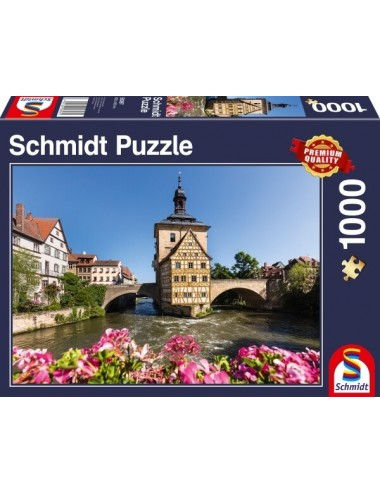 Schmidt Bamberg, Regnitz and Old Town hall 1000pcs (58397)