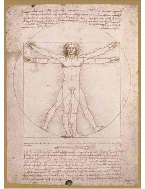 L'UOMO VITRUVIANO 1500pcs (16181) Ricordi