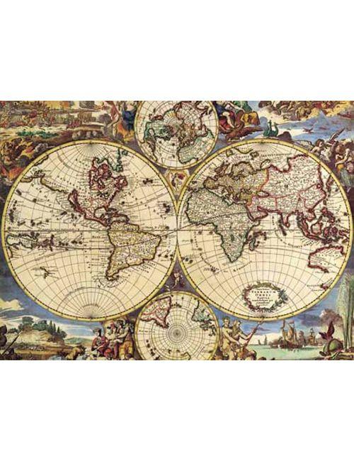 MAP OF THE WORLD  1000pcs (16020) Ricordi