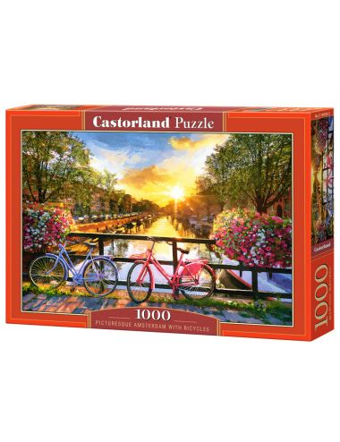 Castorland Amsterdam Bicycles 1000 ΚΟΜΜΑΤΙΑ  C-104536