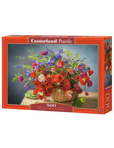 Castorland Bouquet with Poppies 500 ΚΟΜΜΑΤΙΑ B-53506