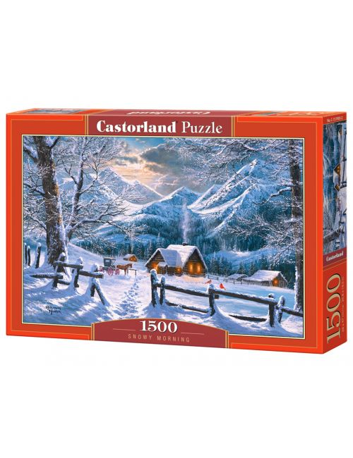 Castorland Snowy Morning 1500 ΚΟΜΜΑΤΙΑ C-151905