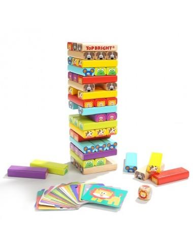 Ξύλινος Πύργος Ισορροπίας Ζωάκια Top Bright  120314