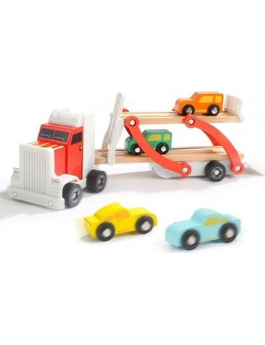 Νταλίκα Μεταφοράς Αυτοκινήτων Ξύλινη  Top Bright 120327