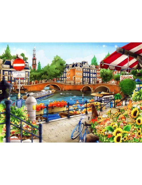 Bluebird Amsterdam1500 κομμάτια 70143