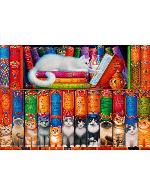 Bluebird Cat Bookshelf1000 κομμάτια 70344