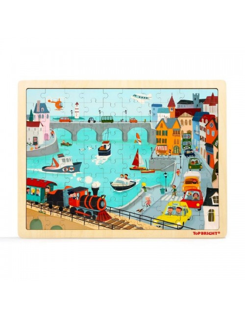 Top Bright City Traffic Puzzle 120391
